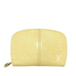 Louis Vuitton Portefeuille jaune cuir
