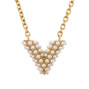 Louis Vuitton Collar color oro metal