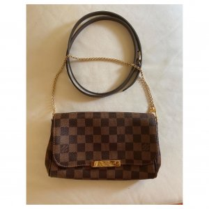 Louis Vuitton Favorite PM Damier Ebene Canvas Bandouliere Crossbody Riemen
