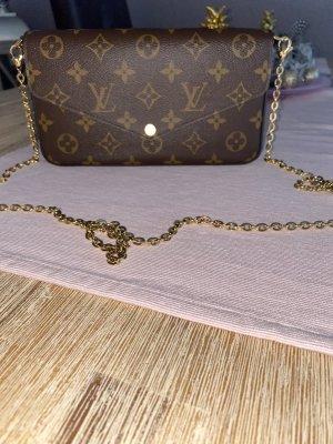 Louis Vuitton Borsa a spalla marrone scuro
