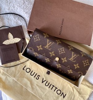Louis Vuitton Wallet brown linen