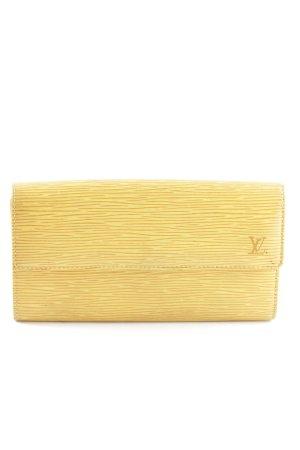 Louis Vuitton Geldbörse blassgelb Streifenmuster Casual-Look