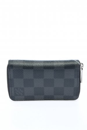 Louis Vuitton Geldbörse schwarz-hellgrau Karomuster Casual-Look