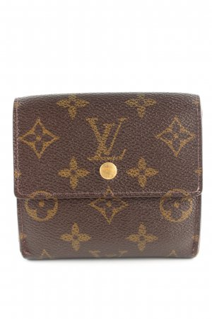 Louis Vuitton Geldbörse braun Allover-Druck Business-Look