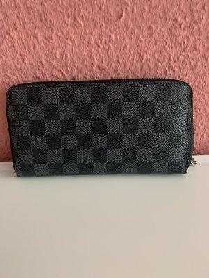 Louis Vuitton Portemonnee zwart-grijs