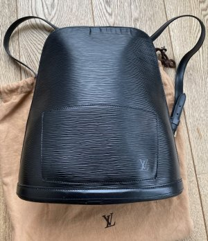 Louis Vuitton Daypack black-gold-colored leather