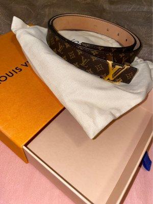 Louis Vuitton Pasek z imitacji skóry brązowy-biały