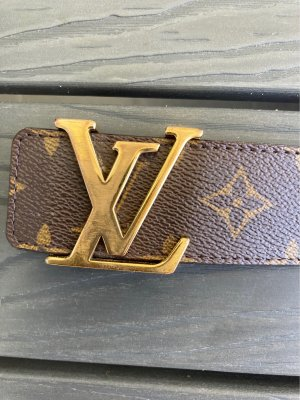 Louis Vuitton Leather Belt brown