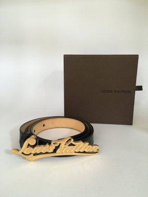 Louis Vuitton Leather Belt black leather