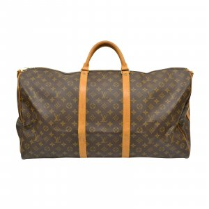 Louis Vuitton Handbag brown textile fiber