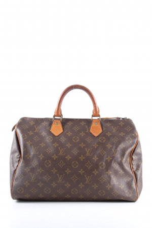 Louis Vuitton Handtasche braun-hellgrau Allover-Druck Casual-Look