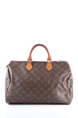 Louis Vuitton Sac à main brun-gris clair imprimé allover style décontracté
