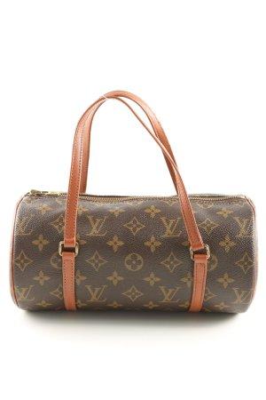 Louis Vuitton Handtasche braun Schriftzug gedruckt Casual-Look