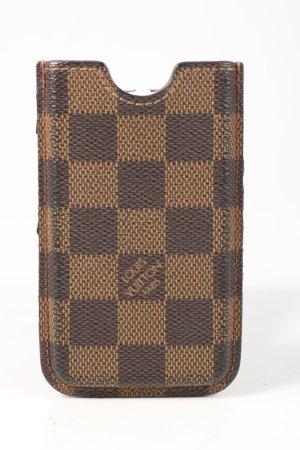 Louis Vuitton Handytasche braun-nude Karomuster Casual-Look