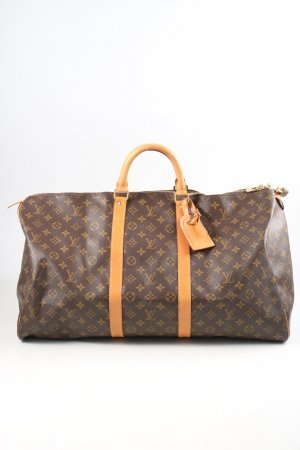 Louis Vuitton Henkeltasche braun-hellorange Allover-Druck Casual-Look