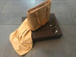 Louis Vuitton Henkeltasche aus Monogram Vernis Beige Lackleder