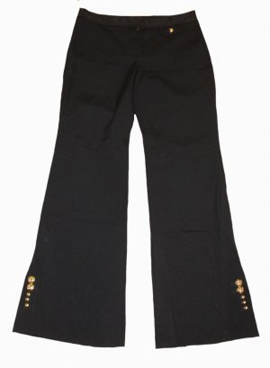 Louis Vuitton Marlene Dietrich broek zwart Wol