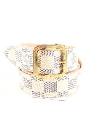 Louis Vuitton Hüftgürtel wollweiß grafisches Muster Casual-Look