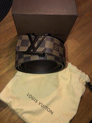 Louis Vuitton Ceinture en cuir brun-brun foncé