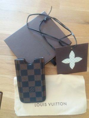 Louis Vuitton Étui pour téléphone portable brun cuir