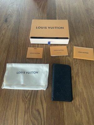 Louis Vuitton Mobile Phone Case black leather