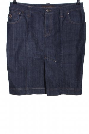 Louis Vuitton Gonna di jeans blu stile casual