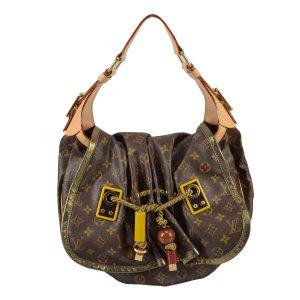 Louis Vuitton Sac porté épaule brun lin