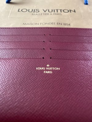 Louis Vuitton Custodie portacarte bordeaux