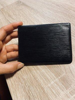 Louis Vuitton Kartenetui schwarz aus Epi Leder