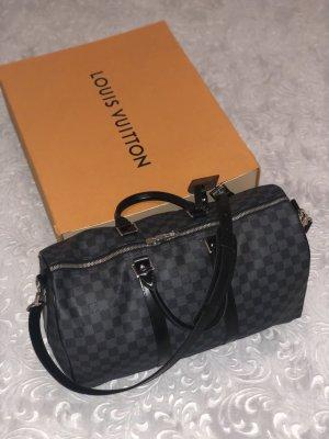 Louis Vuitton Travel Bag black-grey leather