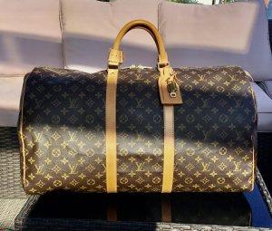 Louis Vuitton Sac de voyage brun foncé-marron clair