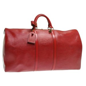 Louis Vuitton Bagage rood Leer