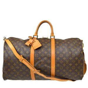 Louis Vuitton Keepall 55 Bandouliere Monogram Canvas Reisetasche Weekender Handtasche Vintage