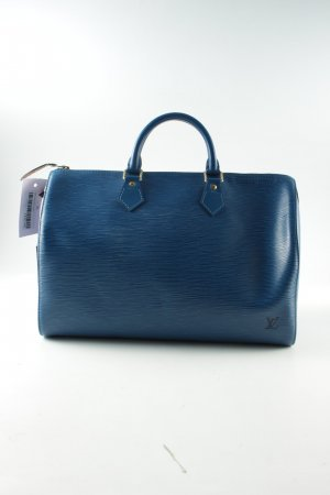 Louis Vuitton Leder Speedy 40 blau