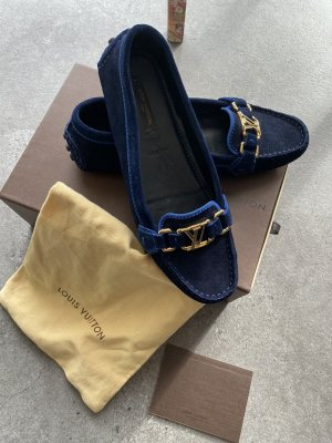 Louis Vuitton Mocassins blauw-goud