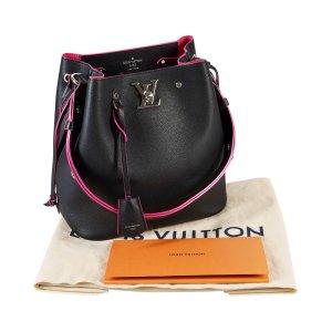Louis Vuitton Lockme Bucket Bag Leder Handtasche Schwarz @mylovelyboutique.com