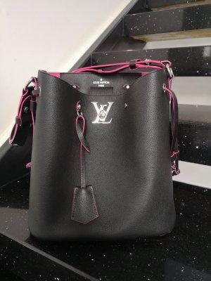 Louis Vuitton Schoudertas zwart-magenta Leer