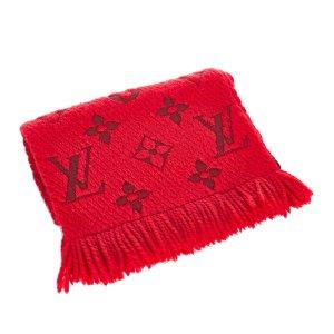 Louis Vuitton Scarf red wool