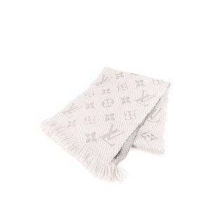 Louis Vuitton Bufanda gris claro Lana