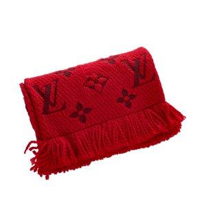 Louis Vuitton Bufanda rojo Lana