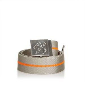 Louis Vuitton Ceinture gris clair nylon