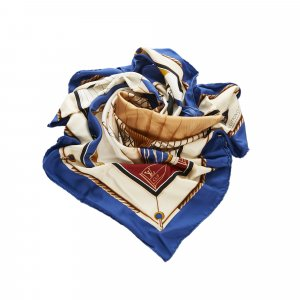 Louis Vuitton Bufanda azul Seda