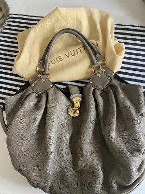 Louis Vuitton Sac Baril gris brun-doré cuir