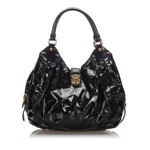 Louis Vuitton Sac hobo noir faux cuir