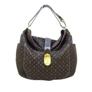Louis Vuitton Hobo brązowy Bawełna