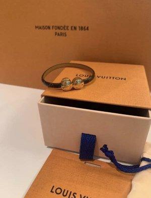 Louis Vuitton Bracelet en cuir brun cuir