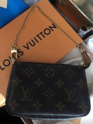 Louis Vuitton mini pochette Tasche Accessoires Kette Gold Monogram canvas