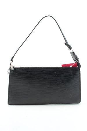 """Louis Vuitton Minitasche """"Pochette aus Epi Leder"""" schwarz"""