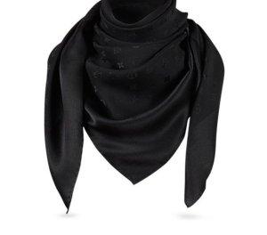 Louis Vuitton Bufanda de seda negro