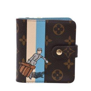 Louis Vuitton Wallet brown textile fiber